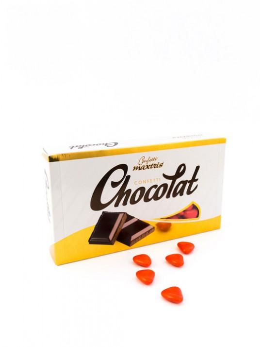 Dragées gros cœur chocolat. 1kg