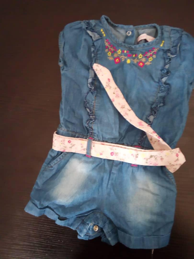 Combinaison jeans pour fille